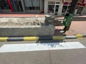 """Harșovschi anunţă sancţiuni pentru """"Doreii"""" care au trasat o trecere de pietoni care se termină într-un zid"""