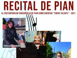 """Laureații Concursului pentru pian complementar """"Tinere Talente"""", prezentați duminică în cadrul unui eveniment muzical"""