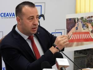 Lucian Harșovschi a prezentat atât varianta trasată inițial, cât și cea nouă, corectă, avizată și de Poliția Rutieră