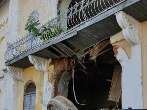 S-a prăbușit peretele de Nord al sinagogii din Fălticeni