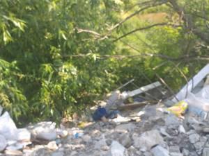 Gunoaie abandonate pe câmp, pe raza satului Șcheia