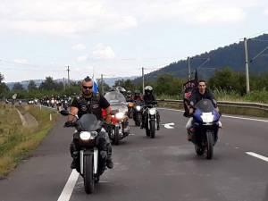 Asociația Ruskie Motoțiclistî  organizează o paradă moto la Gura Humorului