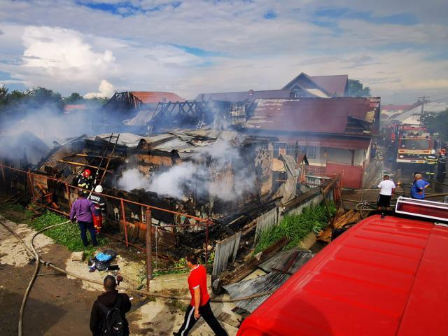 Dezastrul rămas în urma incendiului