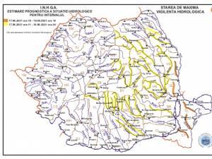 Cod galben prelungit pentru râurile Siret și Bistrița, în județul Suceava