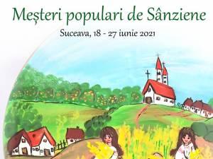 Meșteri populari de Sânziene, pe esplanada Casei de Cultură Suceava