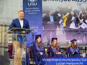 Mesajul municipalității sucevene către studenții USV, transmis de viceprimarul Lucian Harșovschi