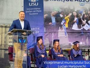 Mesajul municipalității sucevene către studenții USV, transmis de viceprimarul Lucian Harsovschi