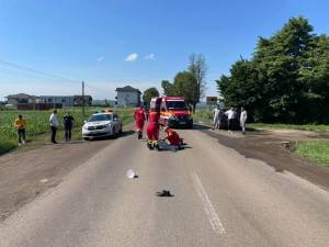 Accidentul s-a produs vineri dimineață, în jurul orei 9.45, între Mitoc și Suceava