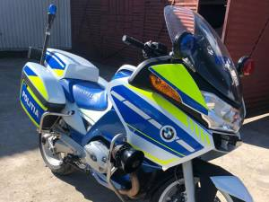Una dintre motocicletele polițiștilor rutieri suceveni
