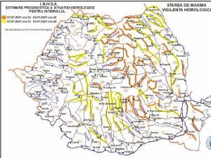 Râurile din Suceava, sub atenționare hidrologică de tip cod galben și cod portocaliu