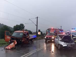 Autovehicule avariate în urma accidentului de la Frasin