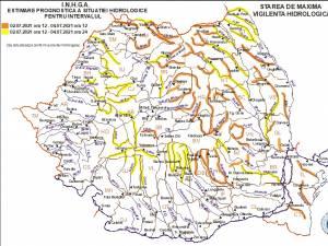 Avertizări hidrologice prelungite până duminică seara pentru râurile din județul Suceava
