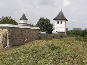 Mănăstirea Zamca, monument istoric ascuns de buruieni și nepăsare, scos la lumină după patru zile de muncă a unor voluntari