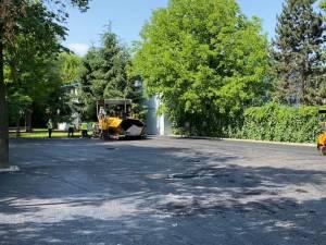 Noua parcare publică de la Sala Sporturilor, cu o suprafață de 2100 de mp