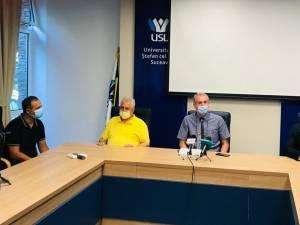 Conferinţa de presă a avut loc în sala senatului de la USV