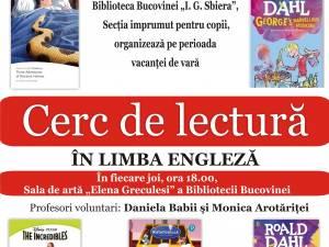 Copiii pot participa la cercul de lectură în limba engleză organizat la Biblioteca Bucovinei