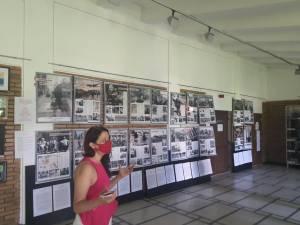 Conf. univ. dr. Raluca Dimian, la expozitia despre Zidul Berlinului