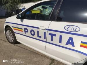 Polițiștii au reperat în trafic, la intrarea în Suceava, mașina cu avarii
