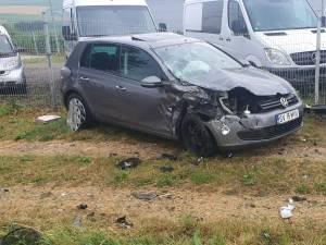 Accident între un autoturism și o autoutilitară
