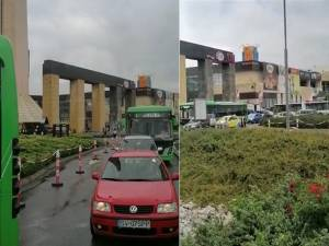 16 autobuze blocate la Iulius mall, pe sensul de intrare și pe cel de ieșire