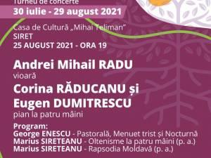 """Turneul de concerte """"Rădăcini"""", organizat de Asociația Klavier ART, ajunge și în cinci localități sucevene"""