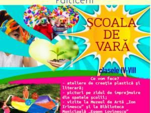 """Programul """"Școala de vară"""", ediția a VI-a, organizat de Școala Gimnazială """"Ioan Ciurea"""" Fălticeni"""