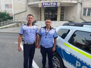 Cei doi polițiști din echipaj