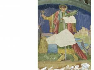 """Fresca """"Sf. Mare Mucenic Ioan cel Nou de la Suceava"""", descoperită în fosta Reședință Mitropolitană din Cernăuți"""