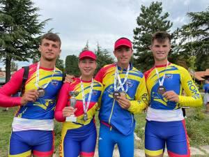 Patru dintre canotorii de la CSM Suceava, medaliați la Balcaniada de juniori