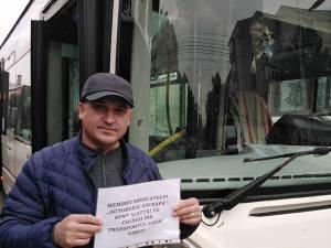 Protest al transportatorilor publici locali din Suceava, în semn de solidaritate cu colegii lor din Vaslui