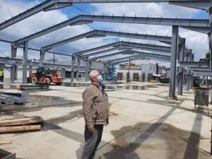 Lucrările de construire a noii Piețe George Enescu, care va fi dată în folosință anul viitor