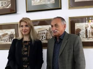 Prof. drd. Raluca Schipor-Baban  şi  pictorul Gabrel Baban