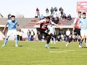 Alex Sahru a deschis scorul pentru Şomuz în partida cu FC Voluntari. Foto Codrin Anton (Fotosport)