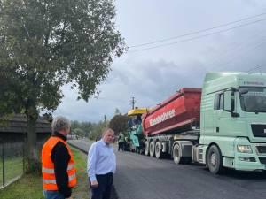 Gheorghe Flutur a verificat stadiul lucrărilor de modernizare a drumului Siret – Frătăuții Noi