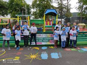 """50 de elevi de la Centrul Școlar Gura Humorului au participat la acțiunea ,,Joc și mișcare în culorile toamnei"""""""