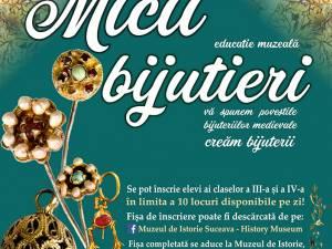 """Proiectul educațional """"Micii bijutieri – atelier de bijuterii medievale"""", organizat de Muzeul Național al Bucovinei"""