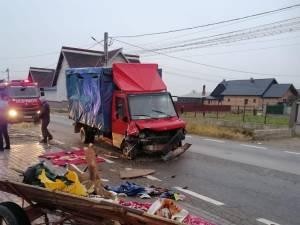 Accidentul produs marţi, în jurul orei 7.00, pe DN 17A, la Marginea