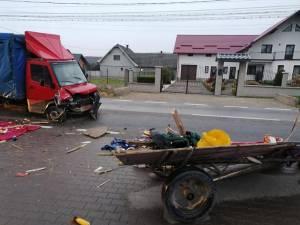 Accidentul s-a produs marți dimineață, în jurul orei 7.00, pe DN 17A, la Marginea