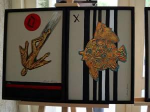 """Artistul plastic Radu Bercea ne oferă noi """"Simboluri"""" prin tehnica artelitului"""