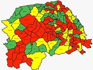 Incidența cazurilor de Covid-19 în județul Suceava