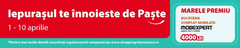 SHOPPING CITY SUCEAVA - Iepurasul te innoieste de Paste