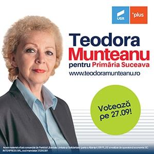 Teodora Munteanu pentru Primăria Suceava