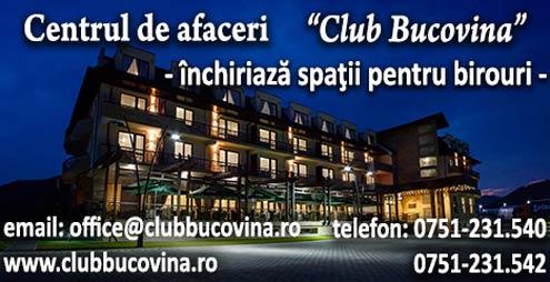 Centrul de Afaceri Club Bucovina inchiriaza spatii pentru birouri