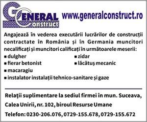 General Construct angajeaza