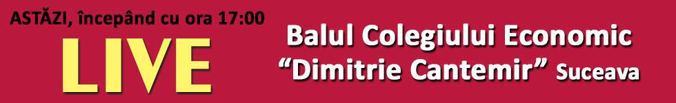 LIVE! 28 octombrie 2016, ora 17:00 - Balul Bobocilor la Colegiul Economic Dimitrie Cantemir Suceava