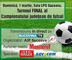 Turneul FINAL al Campionatului judetean de futsal
