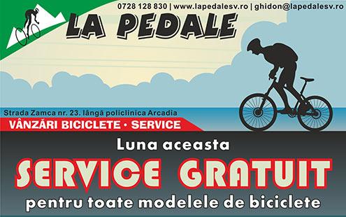 La Pedale Suceava - Service gratuit