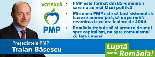 Presedintele PMP Traian Basescu - Lupta pentru Romania