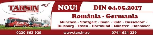 TARSIN Transport international de persoane - Romania - Germania