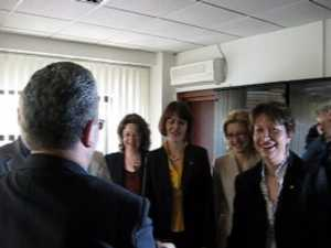 Angela Zarojanu l-a vizitat pe Ion Lungu în biroul său